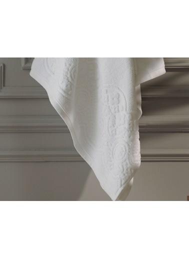 Madame Coco Megeve Jakarlı Banyo Havlusu - Beyaz - 70X140 Cm Beyaz